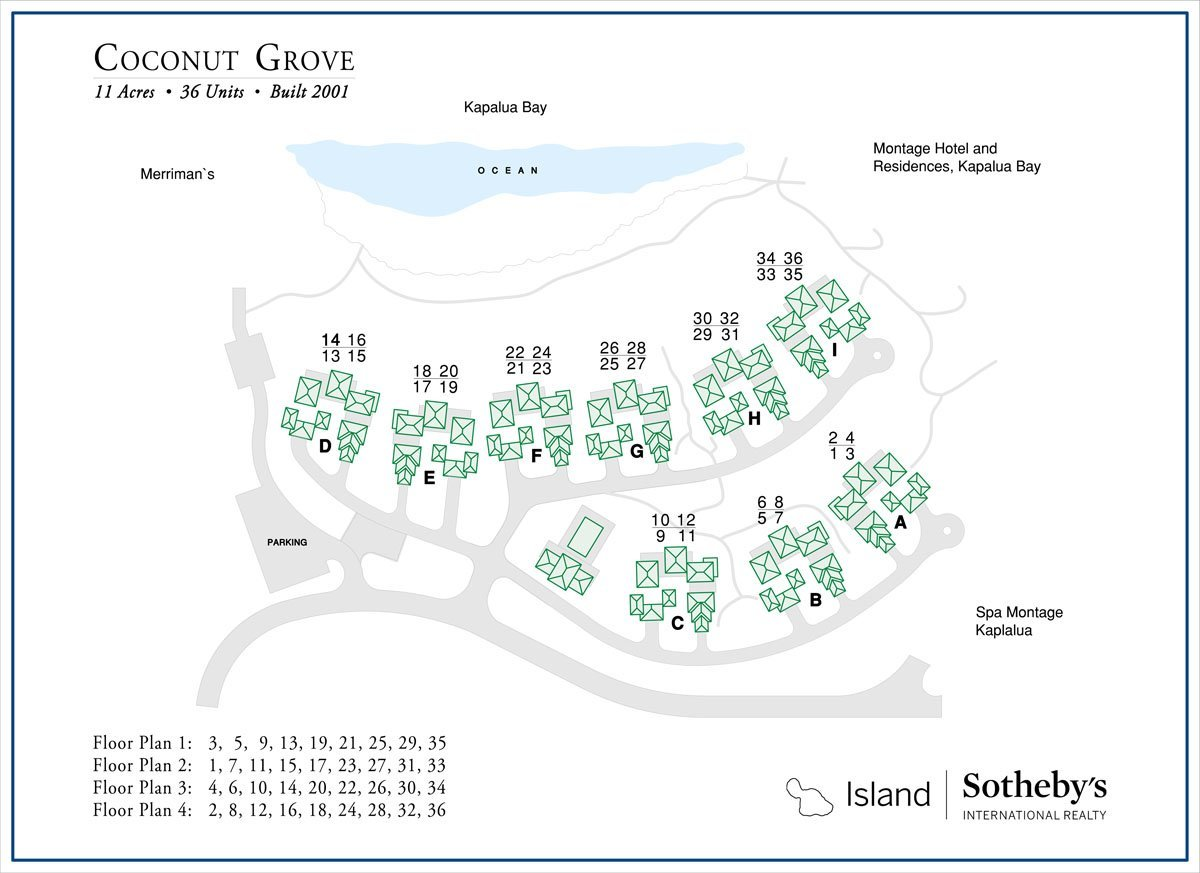 Coconut Grove Kapalua Bay Map