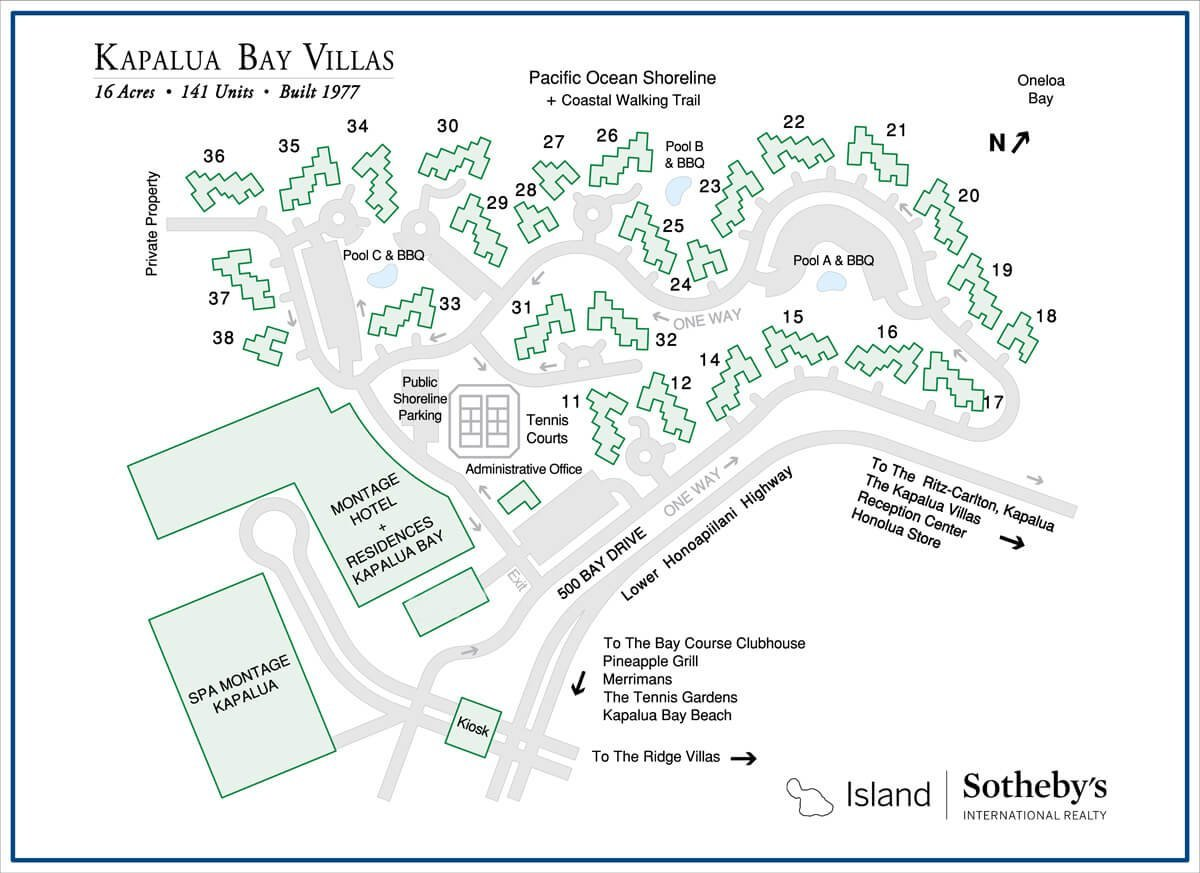 Kapalua Bay Villa Map
