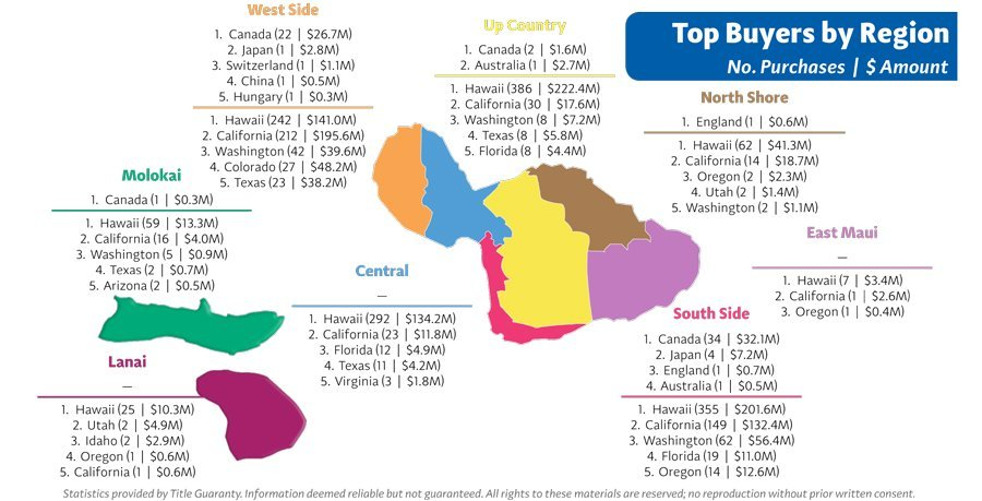 Maui Buyer Stats by Region 2016