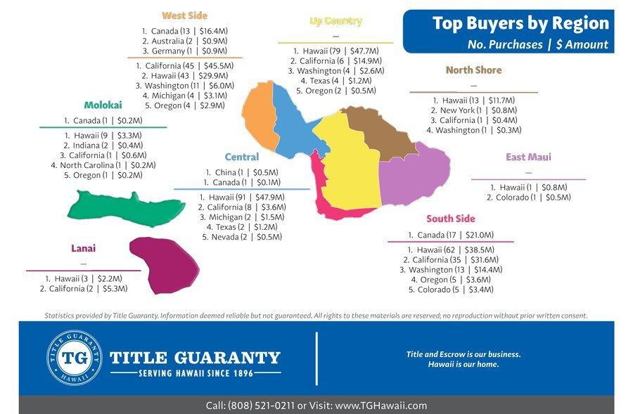 Maui Buyer Stats 2018 by Region