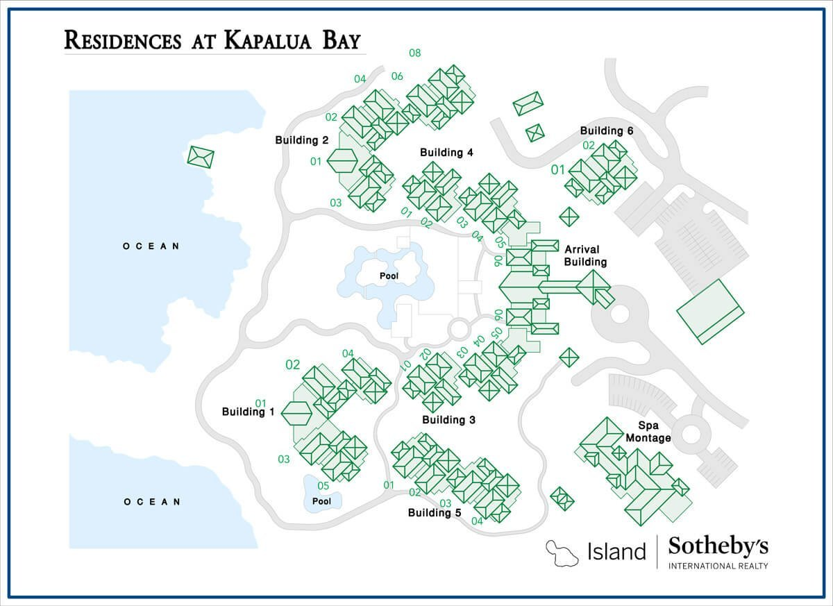 Montage Residences Kapalua Bay Map
